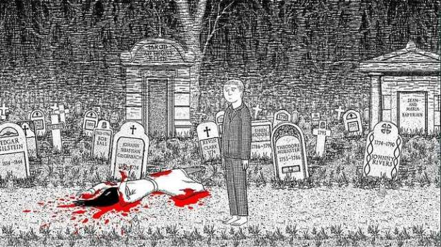 Neverending Nightmares' monochromatic cartoon art style clashes with the violent and gruesome scenes you will happen upon in it.